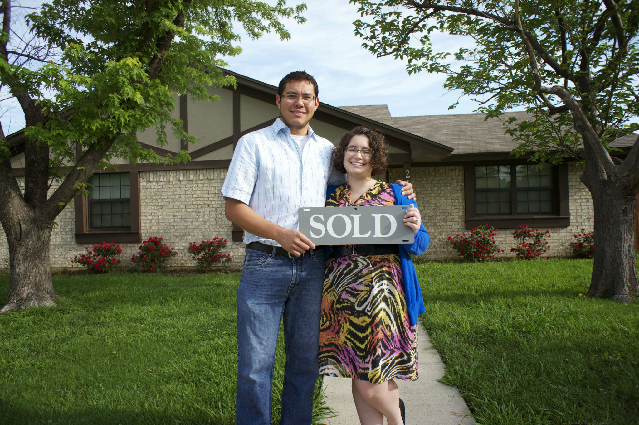 happy homeowners